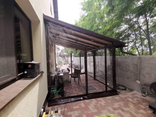Folie antivant pe geamuri trapez cluj